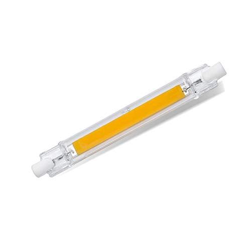 Tubo de vidrio regulable 15W 20W 30W 40W Lámpara LED R7S 78mm 118mm 220V Bombilla LED Cob R7s J118 J78 Tubo reemplaza foco halógeno-Blanco cálido_118 mm 40 w