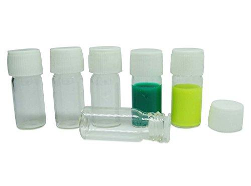 lot de 6 x 3 ml vides boston round flacon de verre réutilisables bouteilles d'aromathérapie huile essentielle couvercle en plastique de gros de petites bouteilles de sérum