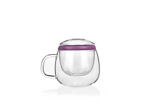 Tea Soul B6021830 Tasse avec Infuser Verre Violet 500 ml