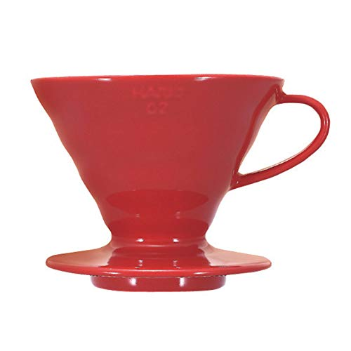 Hario V60 Ceramic Coffee Dripper, Size 02, Red