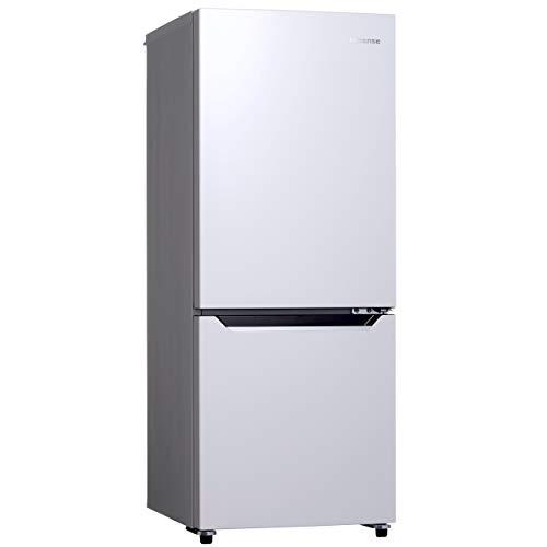 ハイセンス 冷凍冷蔵庫(幅48cm) 150L 2ドア 右開き HR-D15C 自動霜取機能付き 一人暮らし パールホワイト