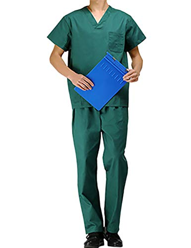 PICTURESQUE Uniforme Médico Ropa Quirúrgica de Manga Corta Bata Médico Laboratorio Enfermera Sanitaria Unisex
