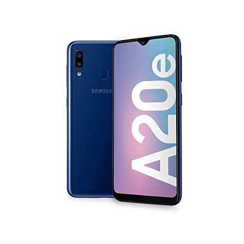 "Samsung Galaxy A20e Smartphone, Display 5.8"" HD+, 32 GB Espandibili, RAM 3 GB, Batteria 3000 mAh, 4G, Dual SIM, Android 9 Pie, [Versione Italiana], Blue"