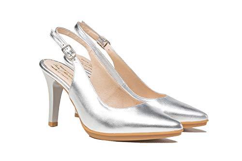Zapatos de salón Mujer Color Plata   Hechos de Piel   Disponibles...
