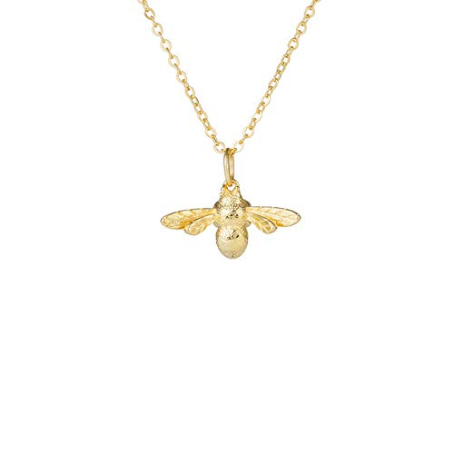 Women Silver Gold Insects Cute Bees Pendant Choker Necklace For Women Gift (Gold)