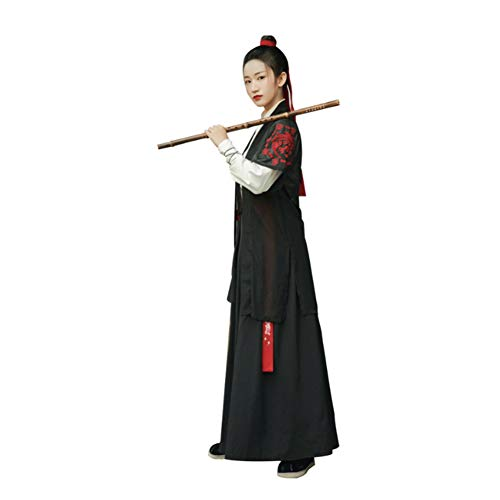 CHUANGQI Frauen Alte Chinesischen Stil Kostüm Traditionelle Retro Hanfu Cosplay Tanz-Performances Kleid,XL