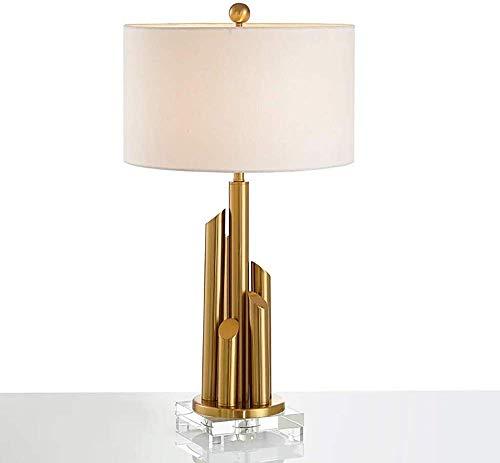 QPLKL Lámpara Creativa Moderna Minimalista Luz Pilar Personalidad American Metal Modelo habitación de diseño Lámpara del Dormitorio Salón Comedor Lámpara de Escritorio