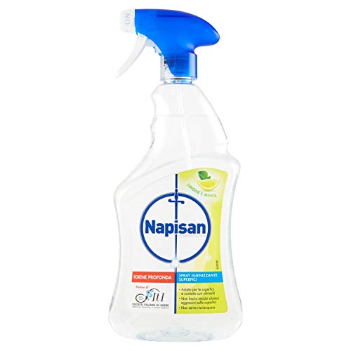 Napisan Spray Igienizzante Superfici, Limone e Menta, 750 ml