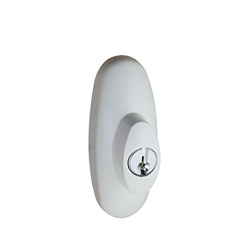 Andersen Tribeca Style Exterior Keyed Lock with Keys Right Hand in White