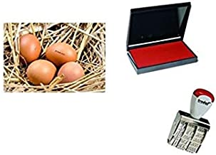 Coop to Table Hearts Chicken Egg Rubber Stamp 3//4 Inch Small