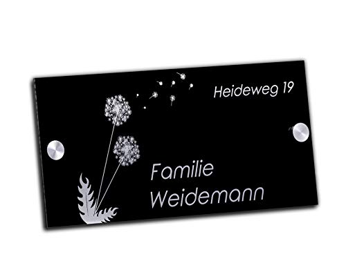 Edles Türschild | Hausnummer mit Gravur mit über 80 Motiven Familien-Haus Familienschild Türschilder für die Haustür mit Namen