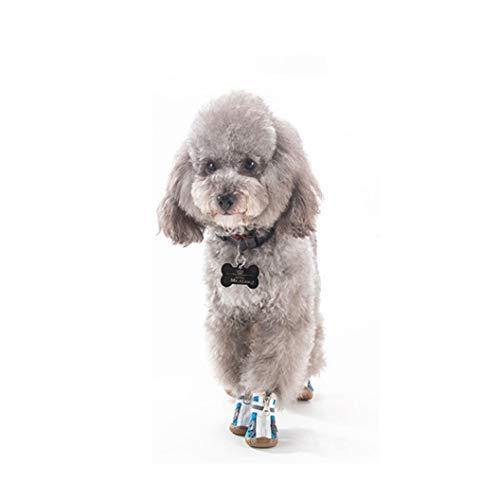 Donad Hundeschuhe Softsole für kleine Hunde und Welpen Atmungsaktives Sneaker-Zubehör Heimtierbedarf Outdoor-Haustierstiefel