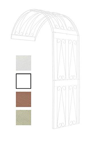 CLP Estructura de Jardín Riccardo para Enredaderas I Semi-Arco de Flores en Hierro I Soporte para Enredaderas de Montje de Pared I Blanco, 130x80x258