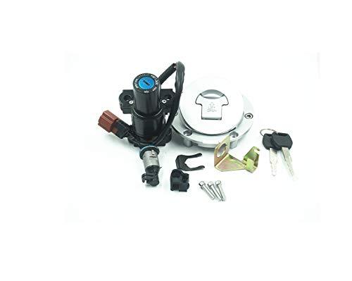 WYJBD Motorrad-Zubehör Motorrad Zündschloss Sitzverriegelung 2 Drahtsperre Brenngas-Kappen Schlüsselsatz Fit for H o n d a