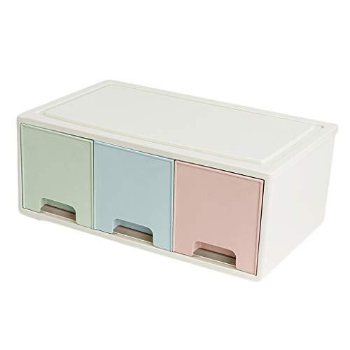CCLLA Kosmetische Aufbewahrungsbox Kunststoff Schublade Typ Lippenstift Hautpflegeprodukte Make-Up Pinsel Aufbewahrungsvitrine Stapelbar (Farbe: H)