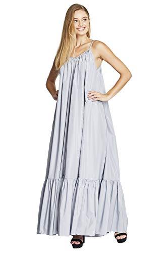 Tov Elegance A-Line Spaghetti Strap Flowy Maxi Rideau Dress