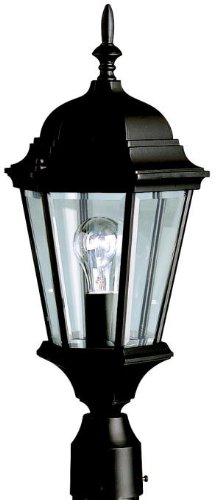 Kichler 9956BK, Madison Cast Aluminum Outdoor Post Lighting, 100 Total Watts, Black (Painted)