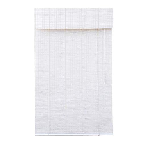 CHAXIA Bamboe blind bamboe blind woonkamer slaapkamer zonnescherm zonnescherm zonnecrème gordijn ophangen wit, multigrootte, aanpasbaar