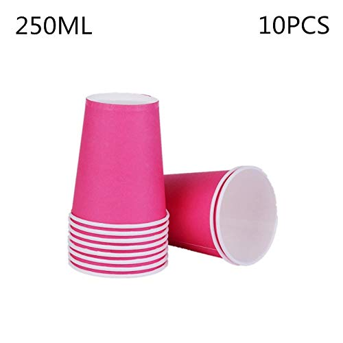 Best Prices! Paper Cup Disposable Cup10Pcs/Lot Solid Color Cups Kids Birthday Party Supplies Plain C...