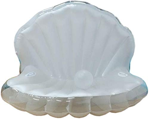Qiny Wasser Hängematte Pool Hängematte Wasser aufblasbare Schale schwimmende Reihe PVC aufblasbare Schale Sofa Wasser Jakobsmuschel schwimmende Reihe schwimmende Bett Liege (170 * 130 * 100 cm)