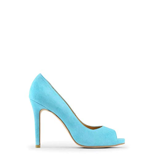 Made in Italia Damen Erminia Peep-Toe, Himmelblau, 38 EU