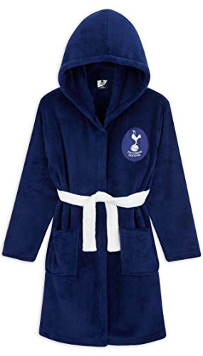 Tottenham Hotspur F.C. Boys Dressing Gown, Kids Fleece Hooded Robe Age 3-14 (Blue, 13-14 Years)
