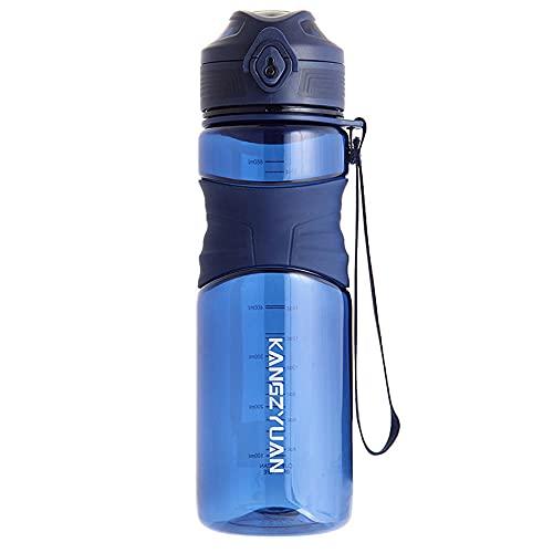 Botella de agua deportiva, BPA Tritan Free Tritan No tóxico Botella de consumo de plástico, diseño a prueba de fugas para gimnasio, escuela y oficina
