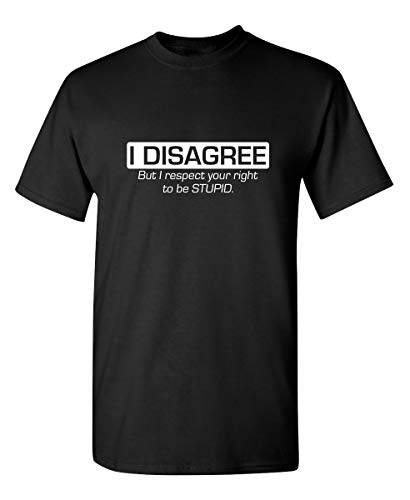 Respect Your Right Graphic Novelty Sarcastic Funny T Shirt XL Black