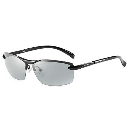 A-myt Personalidad, Chic Gafas de Sol de Cambio de Color polarizado Cuadrado, Gafas de manejo de día y Noche, Gafas de Sol, Gafas de visión Nocturna, Gafas sin Montura Proteja los Ojos del daño