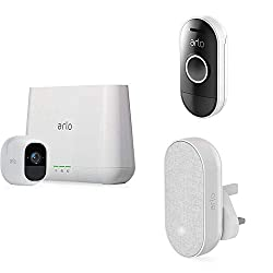 100 percent wire free: Free of power cords and wiring hassles, allowing you to easily place Arlo Pro cameras wherever you want and monitor your home from every angle Night Vision - See what's going on at night; Access the cameras on the go at any tim...