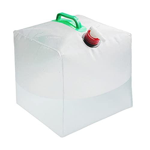 Canghai Contenedores de agua para camping con grifo, bolsa de almacenamiento de agua plegable de 10 l/20 l/30 l, sin BPA, depósito de agua plegable (10 L)