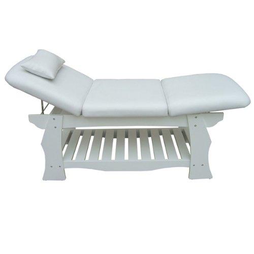 eyepower Spa Massageliege Holz Behandlungsliege Kosmetikliege Massagebank Weiß