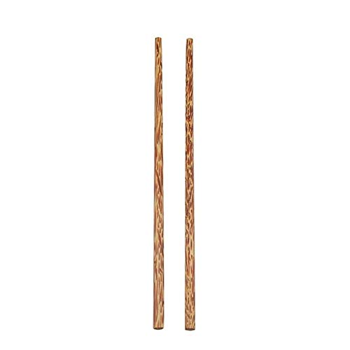 ZNQPLF Bio-Kokospalme Holz Besteck Natürliche Bambusholz Kokosnuss-Gabel-Löffel-ESS-Stäbchen for Kokosnussschale Schüssel Coconut Besteck (Color : 24.5cm Chopsticks)