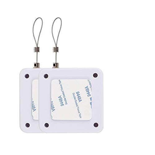 Ochenta 2 piezas de cierre automático de puerta automática, sin perforadores, con sensor automático de 800 g, longitud de la cuerda de alambre de 1,2 m, caja de cable antirrobo, color blanco