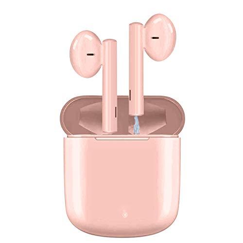 Auriculares inalámbricos ASENTER Bluetooth 5.0 Auriculares inalámbricos verdaderos Auriculares intrauditivos HD estéreo Auriculares deportivos 30H Playtime Micrófono incorporado Rosa