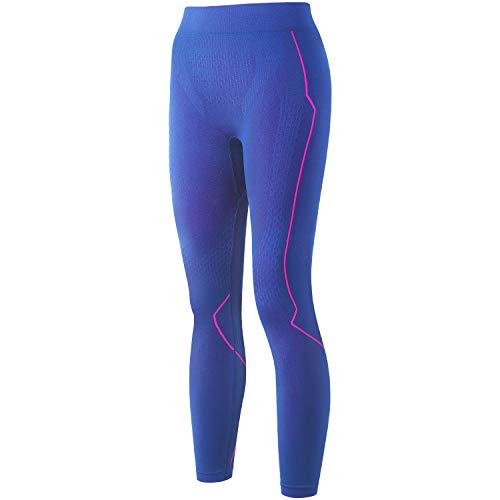 Souke Sports Thermal Underwear for Women Sport Base Layer for Female Compression Pants Winter Gear for Skiing Running Blue