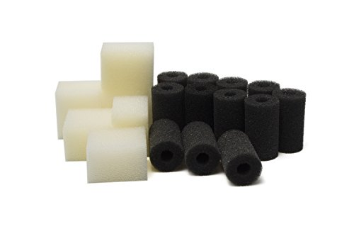 LTWHOME Vorfilter Schwämme und Kompatible Schaumfilter Pads Serie Passend für Fluval Edge Aquarium (Packung mit 18)