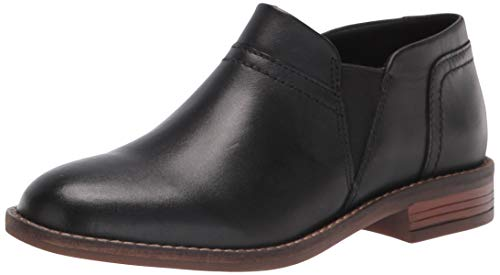 Clarks womens Camzin Mix Fashion Boot, Black Leather, 8.5 Wide US