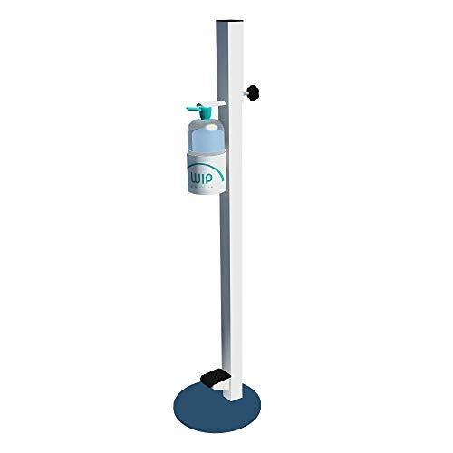 Dispensador de Pie con pedal para Gel Hidroalcohólico Desinfectante de Manos totalmente NO TOUCH para Comercios y Oficinas. Incluye 1 botella de Gel Desinfectante de 1 litro.