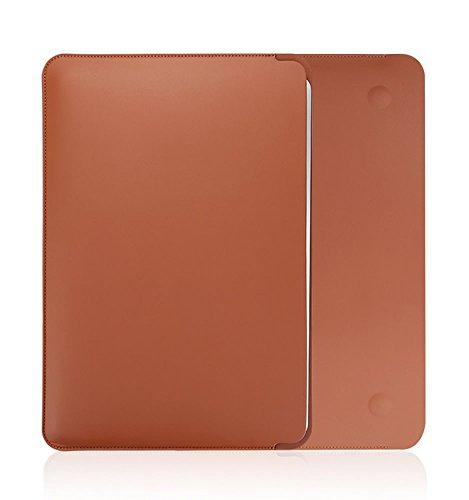 PINHEN Hülle Kompatibel mit MacBook Air 13.3 2018/2019/2020 Schutzhülle - 13 Zoll PU Lederhülle Schutztasche Protective Sleeve Hülle (Brown)