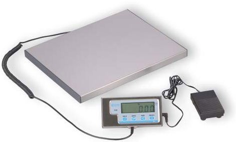 "Salter-Brecknell LPS30 Portable Bench Scale with LCD Display, 15"" Length x 12"" Width x 1"" Height, 30lbs Capacity"
