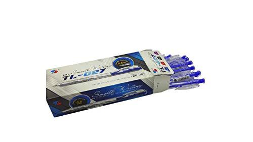 Box 20pcs ballpoint pen, blue ink pen, retractable ballpoint pen, 0.5mm needle tip pen writing smooth, nice pen for gift Writing instruments best ballpoint pen quality pens desk pen stand