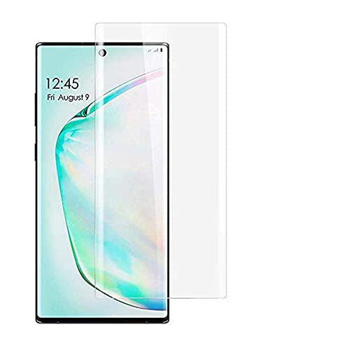 [2-Pack] Samsung Galaxy Note 10 +/Note 10 Plus Tempered Glass Screen Protector, Anti-Scratch, Bubble Free and Case Friendly, 3D Curved Edge Compatible Note 10 +/Note 10 Plus