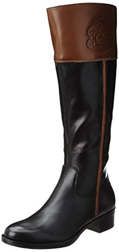 Franco Sarto Women's Canyon Riding Boot,Black/Acorn, 5.5 M US
