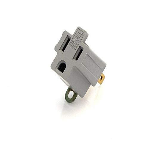 Leviton 274, Gray, 274-000 Grounding Adapter, 2 Pack