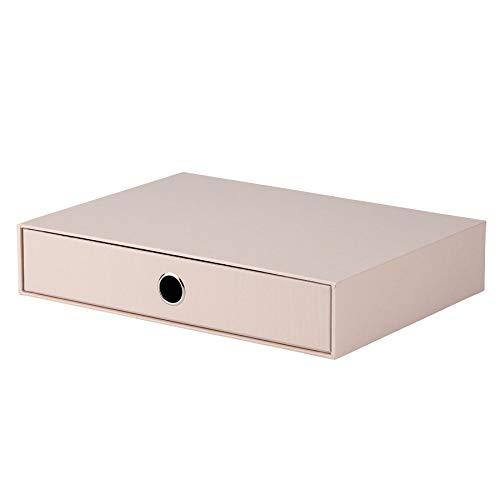 Rössler 1524452580 - S.O.H.O. Schubladenbox für DIN A4, mit Griffloch, powder