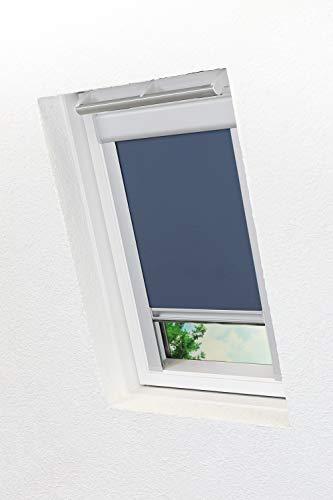 LYSEL - Qualitätsdachfensterrollo abdunkelnd dunkelblau, (B x H) 61.30cm x 116cm in blau/dunkelblau