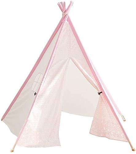 Mr.T Tienda de los niños Decoración Carpa, Hogar Cubierta Dormitorio Rincón de Lectura de Tela Juguete Arte al Aire Libre Sala de fácil Transporte la Tienda de Juego (Color : Pink)
