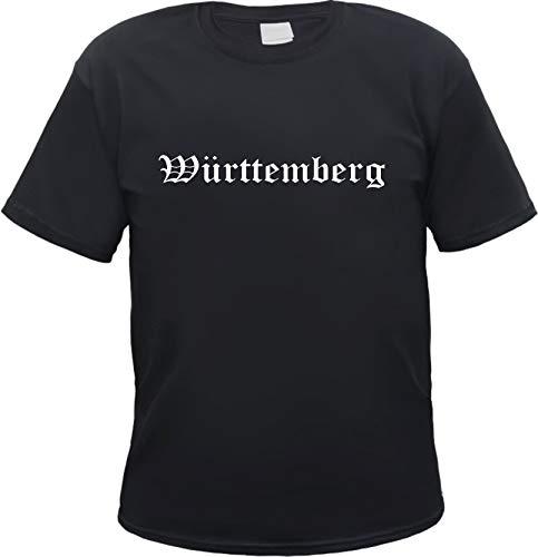 Württemberg Herren T-Shirt - Altdeutsch - Tee Shirt M Schwarz