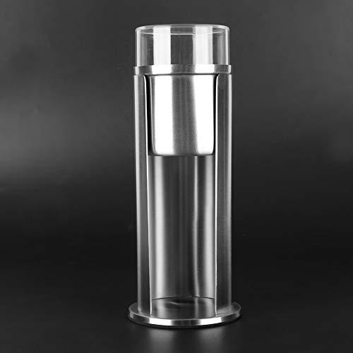Demeras Boîte d'écouvillon Cosmétiques durables en Acier Inoxydable antirouille 100% tampons de Maquillage Neufs pour Boules de Coton